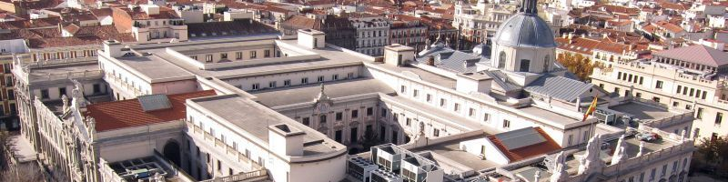 foto aerea de madrid